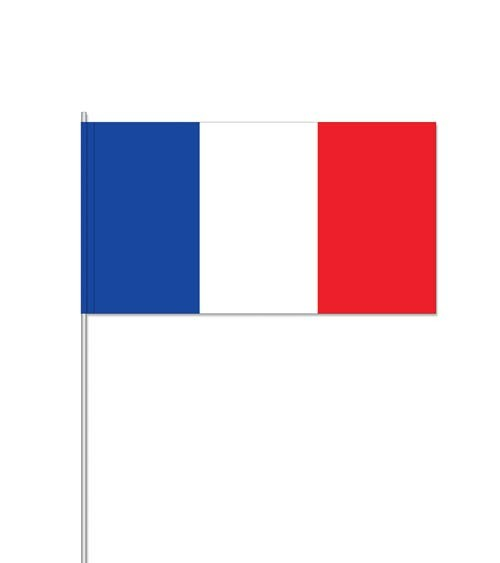 "Papierflaggen ""Frankreich - 10 Stück"