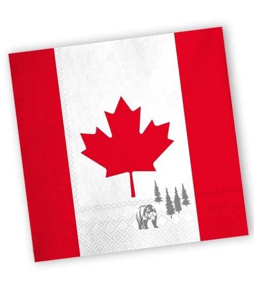 "Servietten ""Kanada"" - 20 Stück"