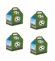 """Kleine Lunchboxen """"Fußball"""" - 4 Stück"""
