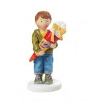"""Deko-Figur """"Junge mit Zuckertüte"""" - 4,5 x 8,5 cm"""
