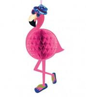 "Wabendekoration ""Cooler Flamingo"" - 23 x 52 cm"