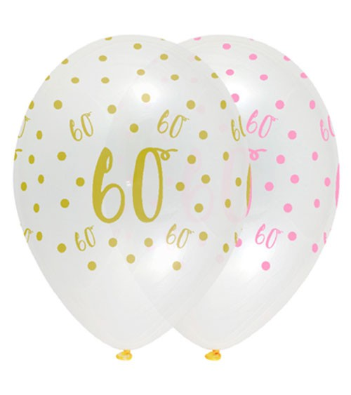 "Luftballon-Set ""Rosa Party"" - 60. Geburtstag - 6 Stück"