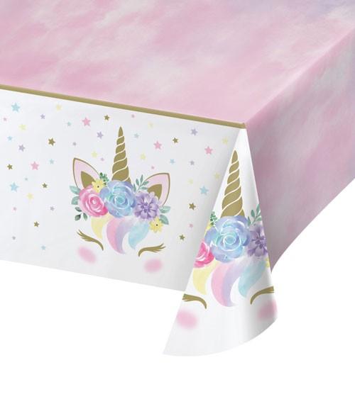 """Kunststoff-Tischdecke """"Unicorn"""" - 137 x 259 cm"""