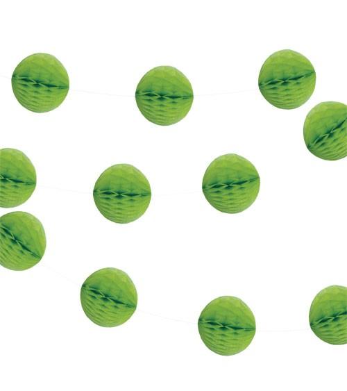 Mini-Wabenball-Girlande - 2,13 m - hellgrün