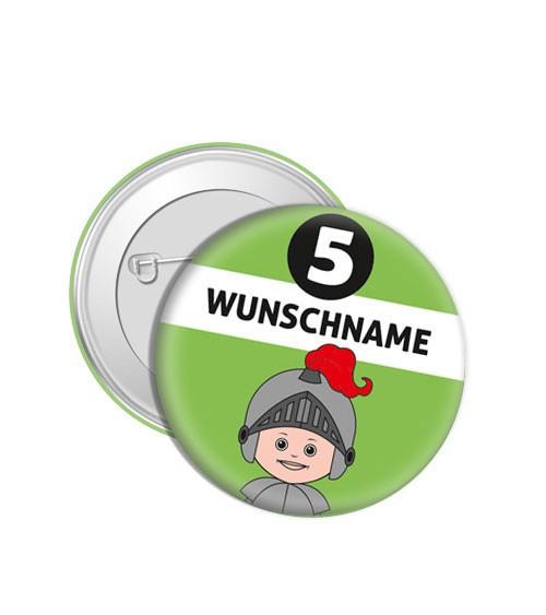 """Dein Button """"Ritter"""" - Wunschtext"""