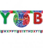 "Happy Birthday Girlande ""PJ Masks - Pyjamahelden"" - 2 m"