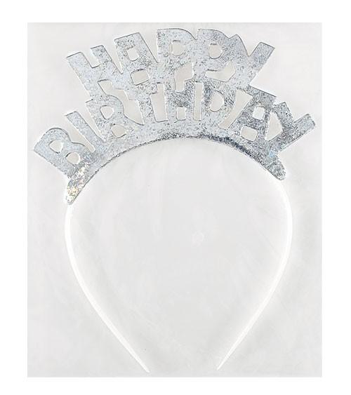 "Tiara-Haarreif ""Happy Birthday"" - irisierend"