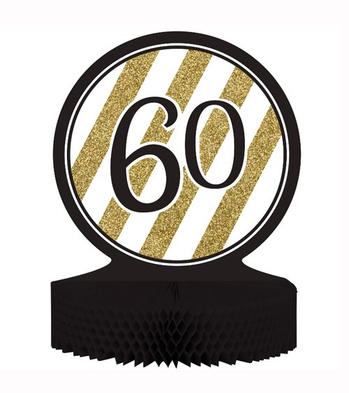 """Aufsteller """"Black & Gold - 60. Geburtstag"""""""