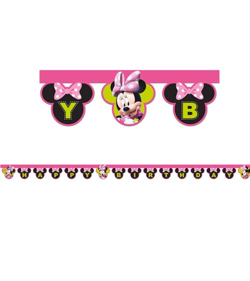 "Happy Birthday-Girlande ""Minnie Happy Helpers"" - 2 m"