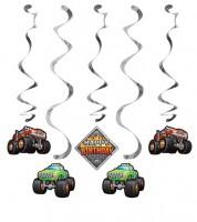 """Spiralgirlanden """"Monster Truck Show"""" - 5 Stück"""