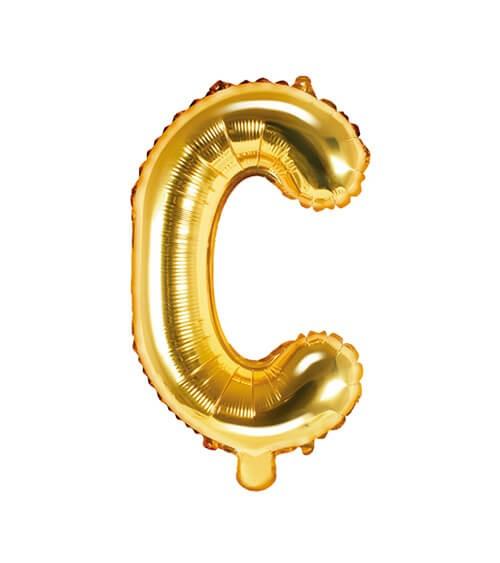 "Folienballon Buchstabe ""C"" - gold - 35 cm"