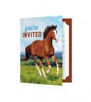 """Einladungskarten """"Pferde"""" - 8 Stück"""