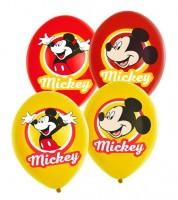 """Luftballon-Set """"Mickey"""" - rot/gelb - 6 Stück"""