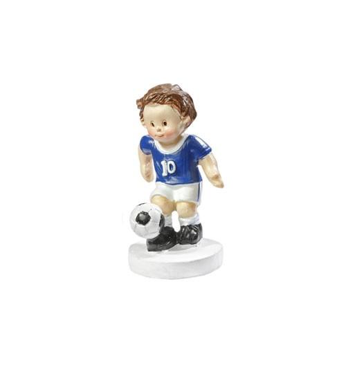 """Deko-Figur """"Fußballer"""" - blau/weiss - 5 cm"""