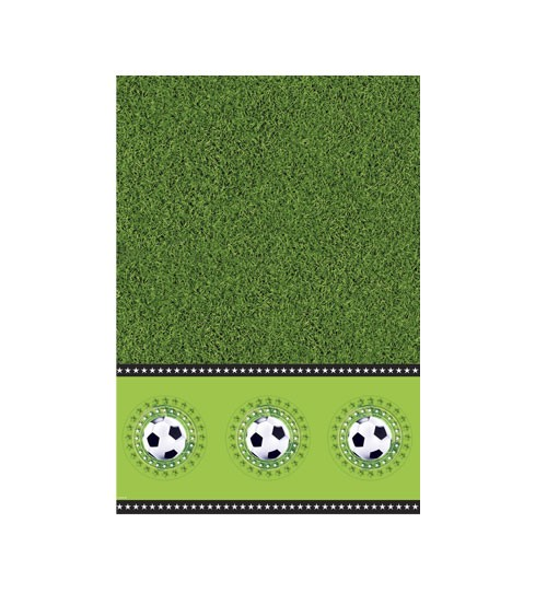 """Kunststoff-Tischdecke """"Fußball"""" - 130 x 180 cm"""