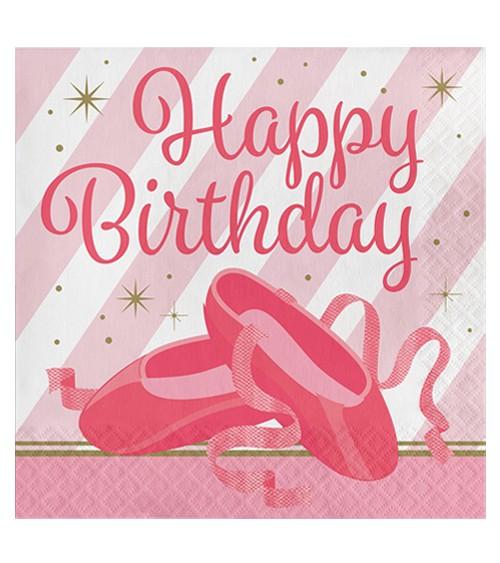 """Servietten """"Prima Ballerina"""" - Happy Birthday - 16 Stück"""