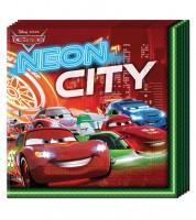 """Servietten """"Cars Neon"""" - 20 Stück"""