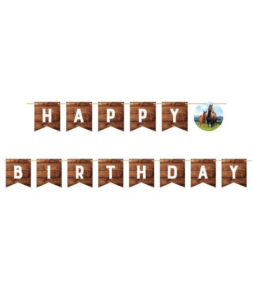 "Happy Birthday Girlande ""Pferde"" - 2,74 m"