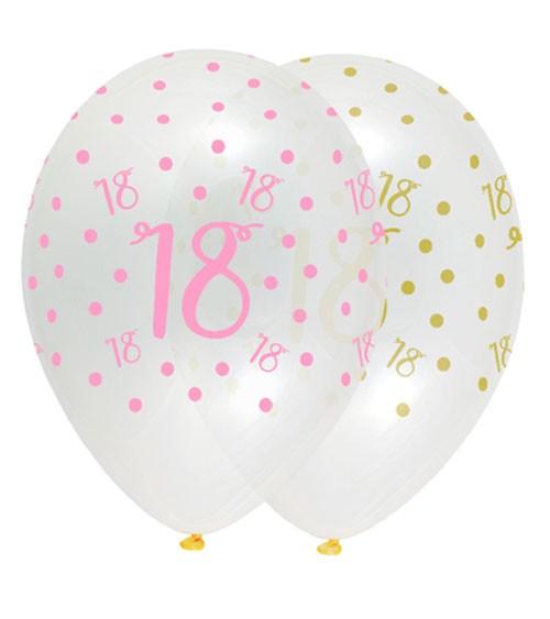 "Luftballon-Set ""Rosa Party"" - 18. Geburtstag - 6 Stück"