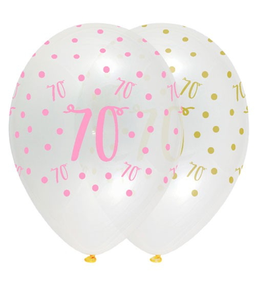 "Luftballon-Set ""Rosa Party"" - 70. Geburtstag - 6 Stück"