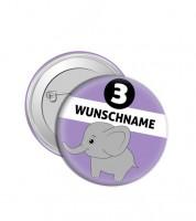 """Dein Button """"Elefant"""" - Wunschtext"""