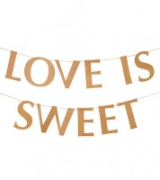 "Schriftzuggirlande ""Love is sweet"" - Kraftpapier - 2 m"