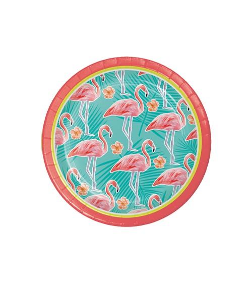 """Kleine Pappteller """"Flamingo Oase"""" - 8 Stück"""