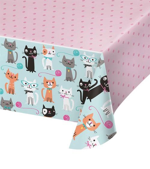 """Kunststoff-Tischdecke """"Kleine Katzen"""" - 137 x 259 cm"""