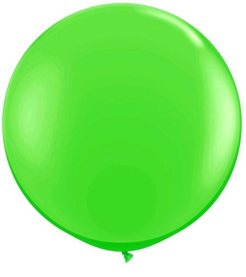 Riesiger Rundballon - hellgrün - 90 cm