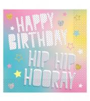 """Servietten """"Einhorn Party"""" - Happy Birthday - 16 Stück"""