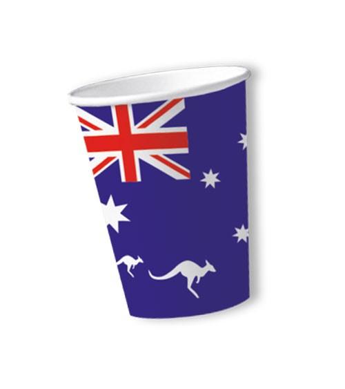 """Pappbecher """"Australien"""" - 10 Stück"""