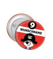 """Dein Button """"Pirat"""" - Wunschtext"""