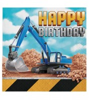 "Servietten ""Baumaschinen"" - Happy Birthday - 16 Stück"