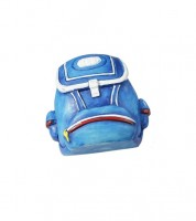 "Tischdeko ""Rucksack"" - blau - 4 x 4,5 cm"