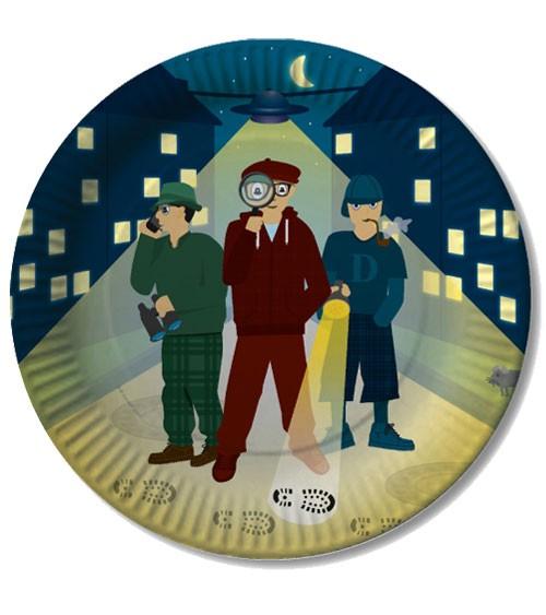 """Pappteller """"Detektive"""" - 8 Stück"""