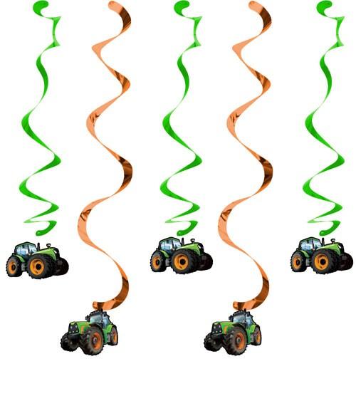 "Spiralgirlanden ""Traktor"" - 5 Stück"