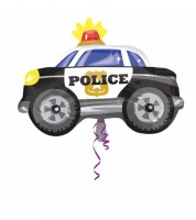"Juniorshape-Folienballon ""Polizeieinsatz"" - Polizeiauto"