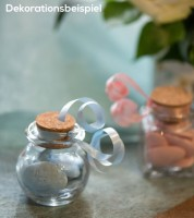 Korkenglas - rund - 5,5 x 6 cm