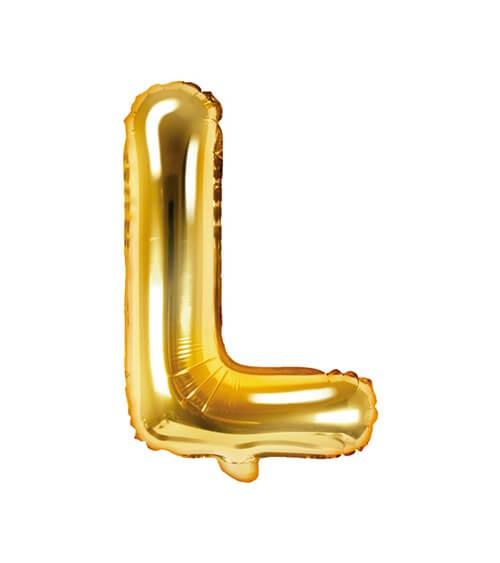 "Folienballon Buchstabe ""L"" - gold - 35 cm"