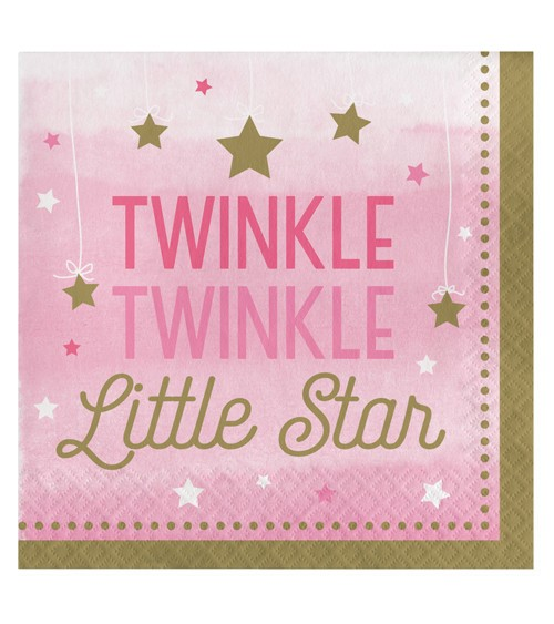 """Servietten """"One Little Star - Girl"""" - 16 Stück"""