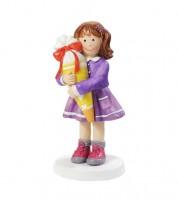 """Deko-Figur """"Mädchen mit Zuckertüte"""" - 4,5 x 8,5 cm"""
