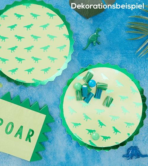 """Pappteller """"Dinosaurier Party"""" - 8 Stück"""