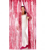 Glitzer-Vorhang - rot - 1 x 2 m