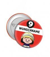 """Dein Button """"Feuerwehrmann"""" - Wunschtext"""