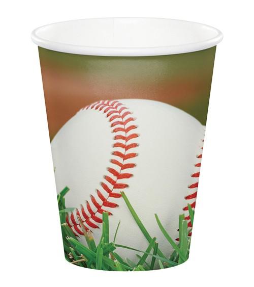 """Pappbecher """"Baseball"""" - 8 Stück"""