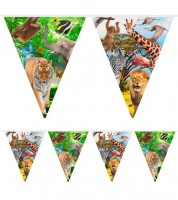 "Wimpelgirlande  ""Safari-Party"" - 10 m"