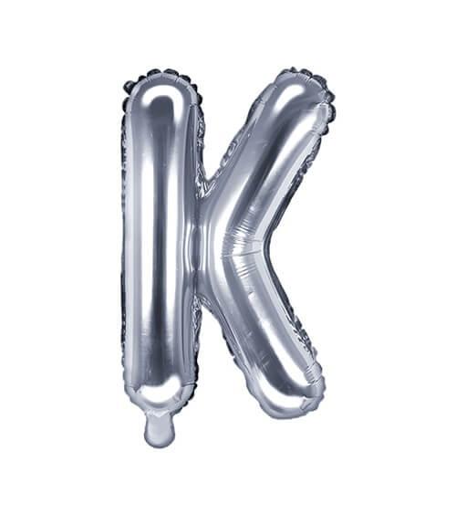 "Folienballon Buchstabe ""K"" - silber - 35 cm"