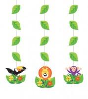 "3er-Motivgirlande ""Dschungel Safari"""