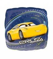 "Eckiger Folienballon ""Cars 3"" - Jackson & Cruz"