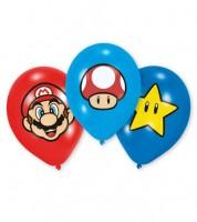 """Luftballon-Set """"Nintendo Super Mario"""" - 28 cm - 6 Stück"""